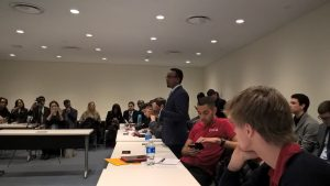YNCCC discusses Youth Engagement_ Nahom Zeleke at 9th ECOSOC Meeting, New York, USA
