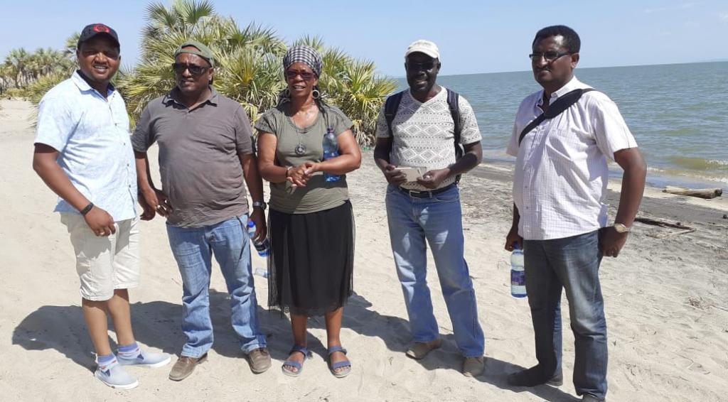 Baseline assessment team - Lake Turkana shore, December 2019